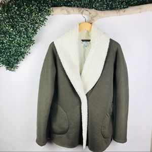 NWOT Susina | faux Sherpa lined collar fleece